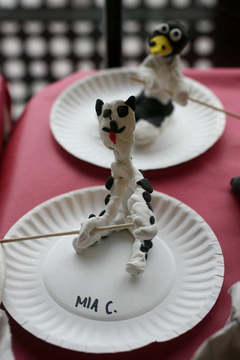 Summer Art Campers created clay animals