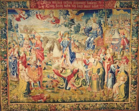 The monumental tapestry (and the only one of its kind) The Triumph of Justice