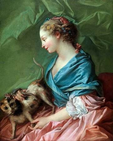Woman with a Cat: Dangerous Caresses