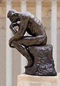 Auguste Rodin's sculpture The Thinker
