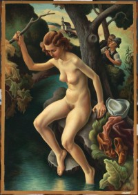 Thomas Hart Benton oil painting of Susanna and the Elders