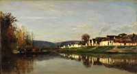 "Charles-François Daubigny, ""The Village of Gloton (Gloton),"" 1857"