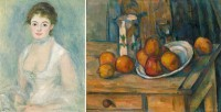 Renoir and Cezanne paintings