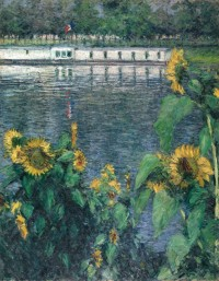 "Gustave Caillebotte, ""Sunflowers along the Seine,"" ca. 1885–1886"