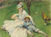Renoir painting of Madame Monet and Her Son
