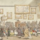Thomas Rowlandson and Augustus Charles Pugin, Christie's Auction Room, from the book The Microcosm of London, 1808