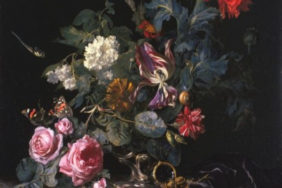"Willem van Aelst, Dutch, 1625–1683, ""Flowers in a Silver Vase"", 1663"