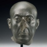 Head of a priest (The Boston Green Head). Egyptian, Late Period, Dynasty 30, 380‒332 BC