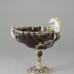 Shell-shaped cup, ca. 1650 and ca. 1685