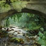 River under Old Stone Bridge