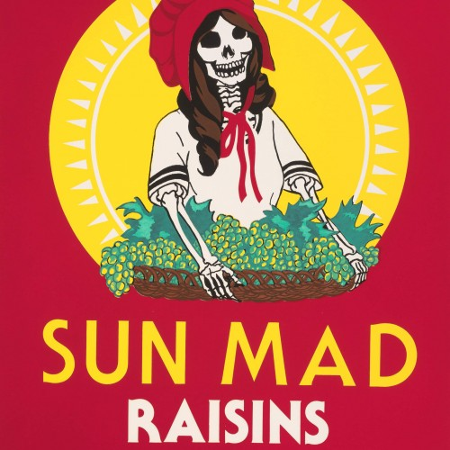 "Ester Hernandez, ""Sun Mad"", 1982. Color screenprint on paper, 22 x 17 in. FAMSF, museum purchase, Judge George Henry Cabaniss and Harriet Howell Cabaniss Memorial Fund"