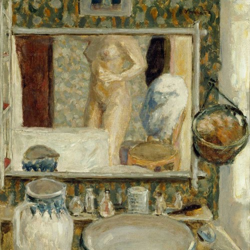 "Pierre Bonnard, ""The Dressing Table"", 1908. Oil on canvas. Musée d'Orsay, Paris; Mr. and Mrs. Frédéric Lung Bequest, 1961, RF 1977-86"