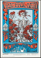 "Stanley Mouse and Alton Kelley, ""Skeleton and Roses,"" Grateful Dead, Oxford Circle, September 16 & 17, Avalon Ballroom, 1966"