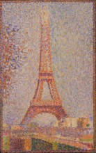 Pointillist painting of Eiffel Tower by Georges Seurat