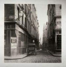 Parisian street in circa 1865