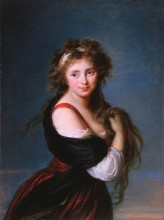 "Elisabeth Louise Vigée-LeBrun, ""Hyacinthe Gabrielle Roland, Marchioness Wellesley, (formerly Countess of Mornington)"", 1791"