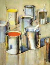 Thiebaud, Paint Cans, 1990