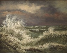 Courbet painting of the ocean