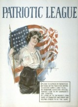 Patriotic League - World War I poster Howard Chandler Christy 1918 Lithograph Poster 71.2 x 52.2 cm