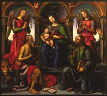 Madonna Enthroned with Saints and Angels