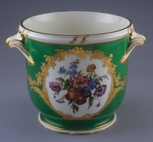 Wine Cooler, 1765. Soft-paste porcelain, Sèvres Factory, French. Museum purchase, San Francisco Foundation Grant from the Michael Taylor Trust