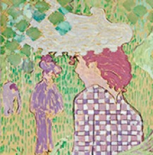 Pierre Bonnard, Woman in Checkered Dress (Femme à la robe quarillée), 1890–1891