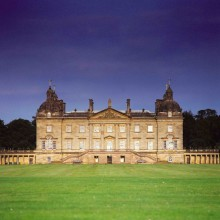Exterior view of Houghton Hall, Norfolk, England