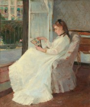 Painting of woman at window