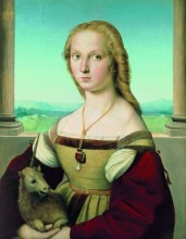 Raphael, Portrait of a Lady with a Unicorn, ca. 1505-1506.
