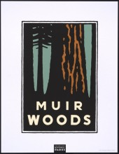 Michael Schwab, Muir Woods, from a series of posters for the Golden Gate National Parks, 1995
