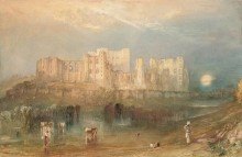 Joseph Mallord William Turner, View of Kenilworth Castle, ca. 1830. Watercolor and opaque watercolor with scraping and wiping on paper. Fine Arts Museums of San Francisco, gift of Osgood Hooker
