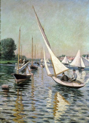"Gustave Caillebotte, ""Regatta at Argenteuil,"" 1893"