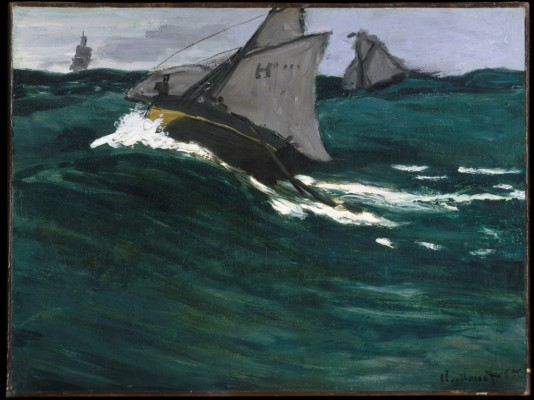 "Claude Monet, ""The Green Wave"", 1866-67"