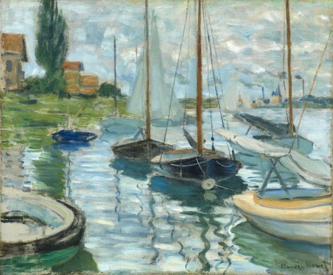 Monet Sailboats on the Seine