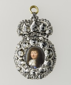 Presentation miniature of Louis XIV in a diamond-set frame, ca. 1670