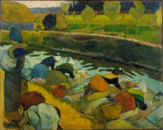 Gauguin painting: Washerwomen