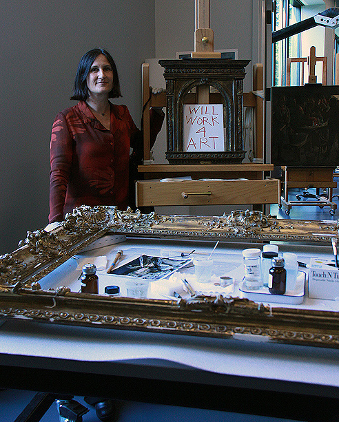 Natasa Morovic at the de Young museum paintings conservation