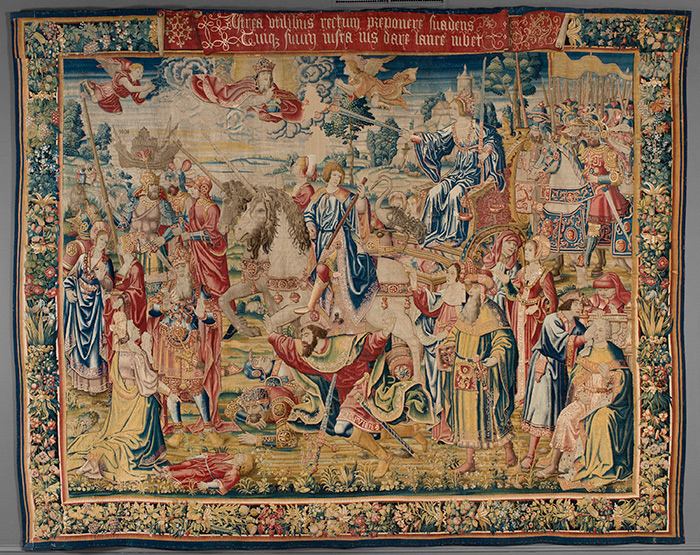 Triumph of Justice tapestry from The Triumph of the Seven Virtues Series