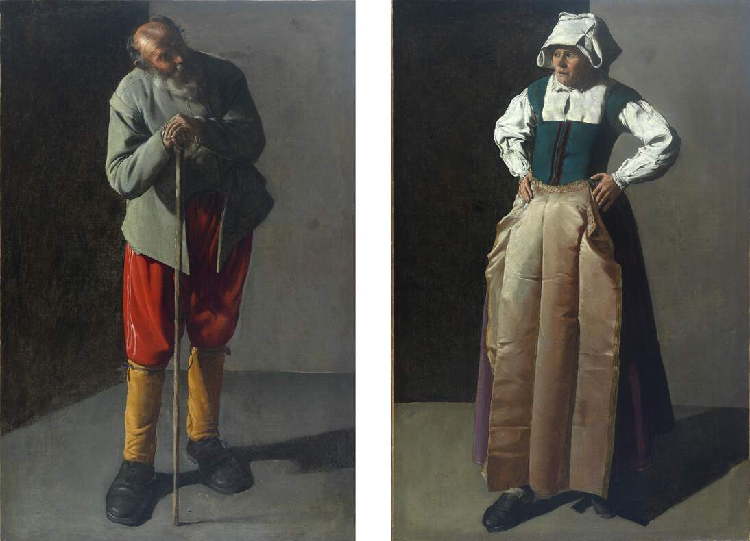 "Georges de La Tour, ""Old Man"" and ""Old Woman,"" ca. ca. 1618–1619"