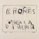 Frank O'Hara and Larry Rivers, title page, 1959, from the portfolio Stones, 1960. Lithograph. Fine Arts Museums of San Francisco, Achenbach Foundation for Graphic Arts, gift of the Reva and David Logan Foundation, 2012. Photo © Fine Arts Museums of San Francisco