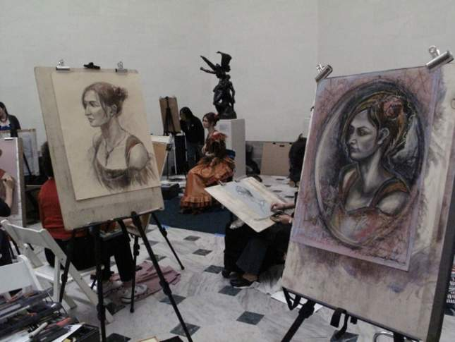 Sketching in the Rodin Gallery at the Legion of Honor