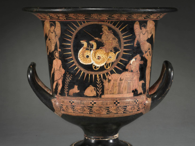Terracotta, ca. 400 B.C.E., Attributed to the Policoro Painter, Lucanian