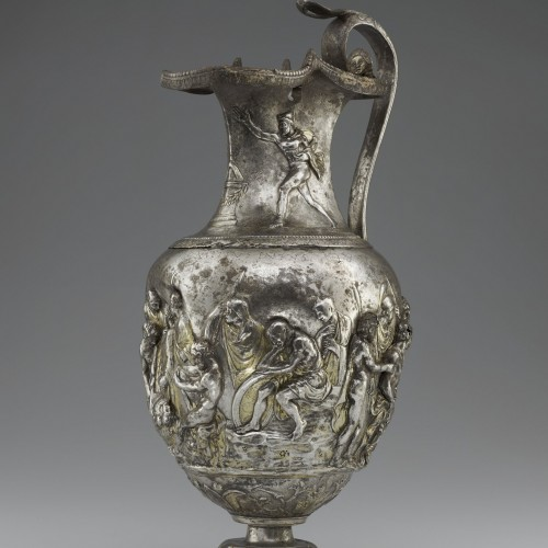 Pitcher with scenes from the Trojan War, Roman, 1st century AD. Silver and gold. Bibliothèque nationale de France, Département des monnaies, médailles et antiques, Paris