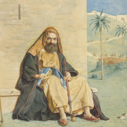 Richard Dadd, Bearded Man with a Pipe, 1842–1843. Watercolor on paper. Fine Arts Museums of San Francisco, museum purchase, Achenbach Foundation for Graphic Arts Endowment Fund
