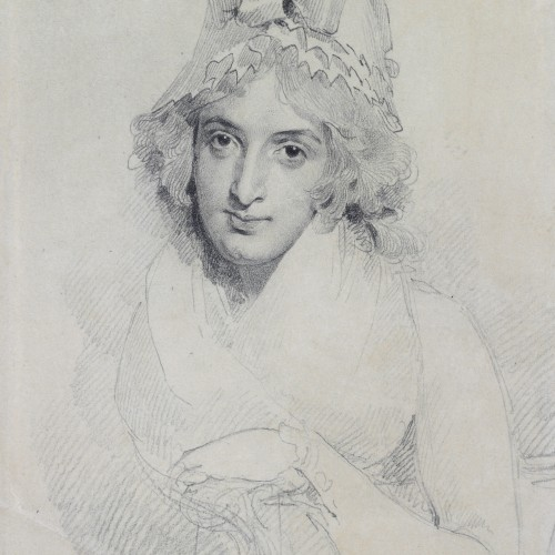 Sir Thomas Lawrence, Portrait of Mrs. Sarah Siddons, ca. 1790. Graphite on paper. Fine Arts Museums of San Francisco, gift of the Goldyne family in memory of Dr. Alfred J. Goldyne