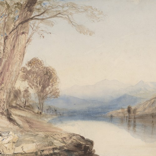 John Ruskin, A River in the Highlands, ca. 1847. Watercolor over graphite on paper. Fine Arts Museums of San Francisco, museum purchase, gift of the Graphic Arts Council