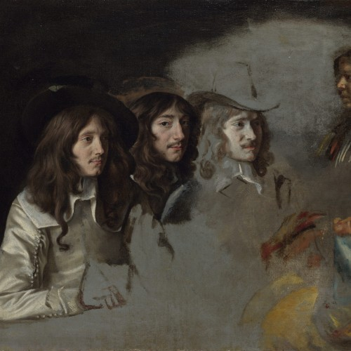 "Le Nain, ""Three Men and a Boy"", ca. 1640–1645. Oil on canvas, 21 ¼ x 25 3/8 in. National Gallery, London, NG 4857. © National Gallery, London"