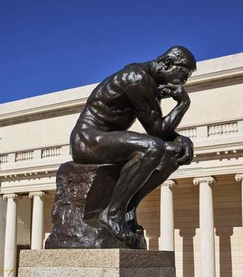 """Auguste Rodin, """"The Thinker,"""" 1904"""