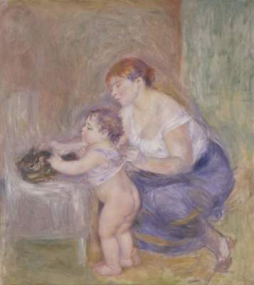 """Pierre-Auguste Renoir, """"Mother and Child,"""" ca. 1883"""
