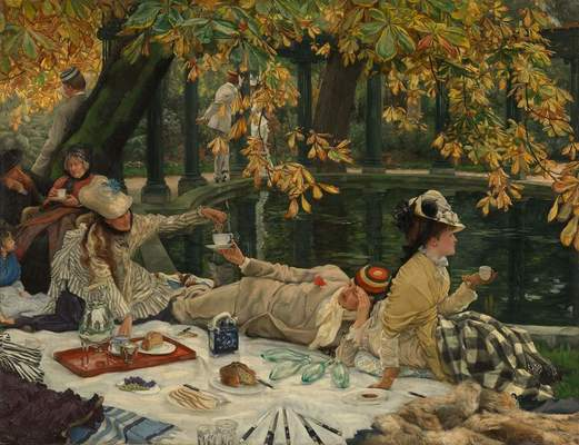 """James Tissot, French,""""Holyday (The Picnic),""""ca. 1876"""